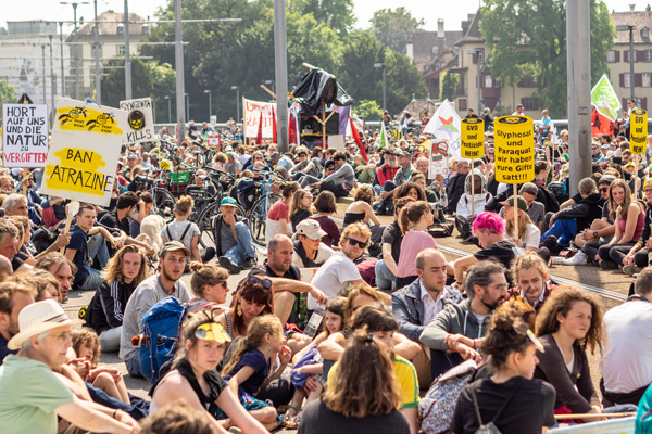 Basel, Switzerland March against Monsanto and Syngenta
