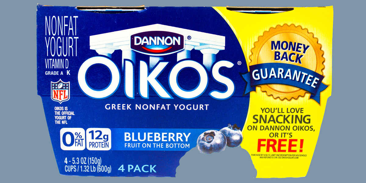Dannon Greek non-fat yoghurt