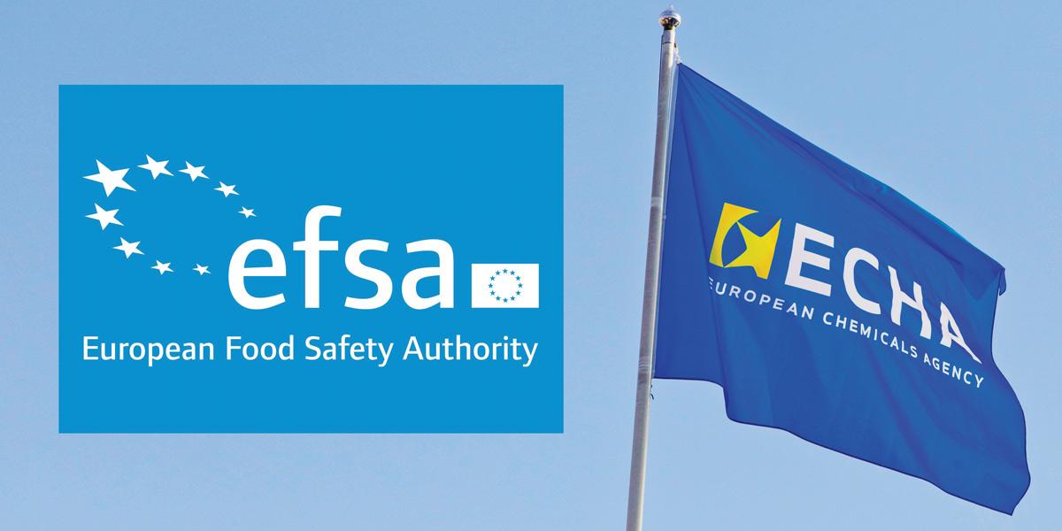 ECHA logo EFSA flag