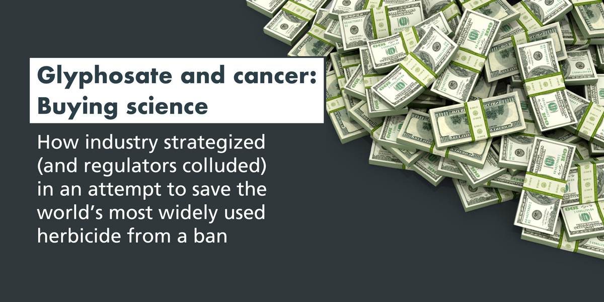 Glyphosate and cancer Buying science