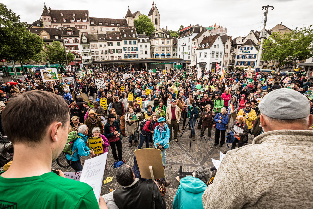 March against Monsanto and Syngenta Basel