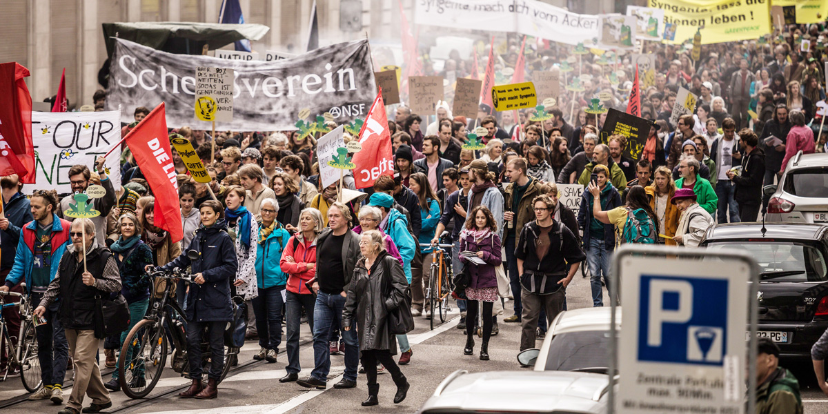 March against Monsanto and Syngenta in Basel
