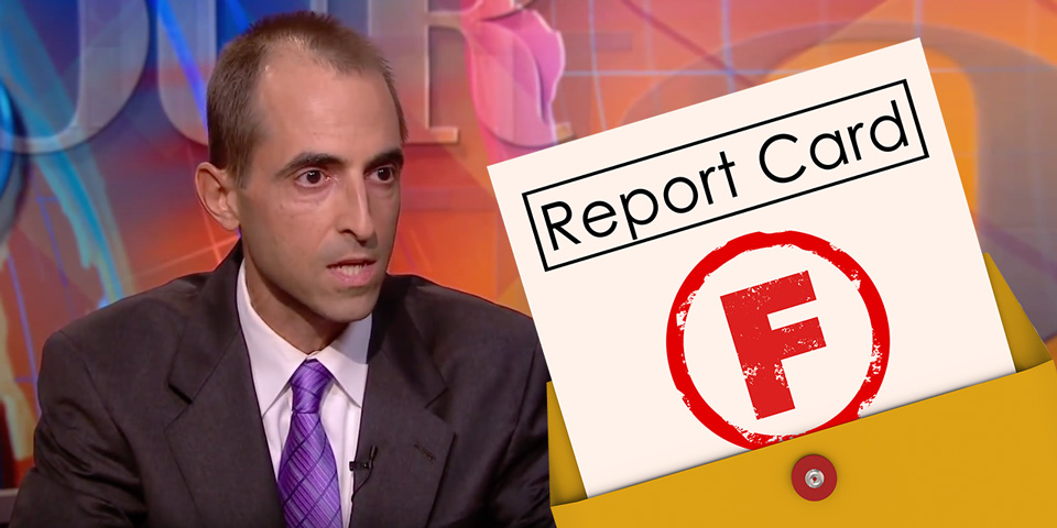 Slate magazine's William Saletan with Fail Report Card