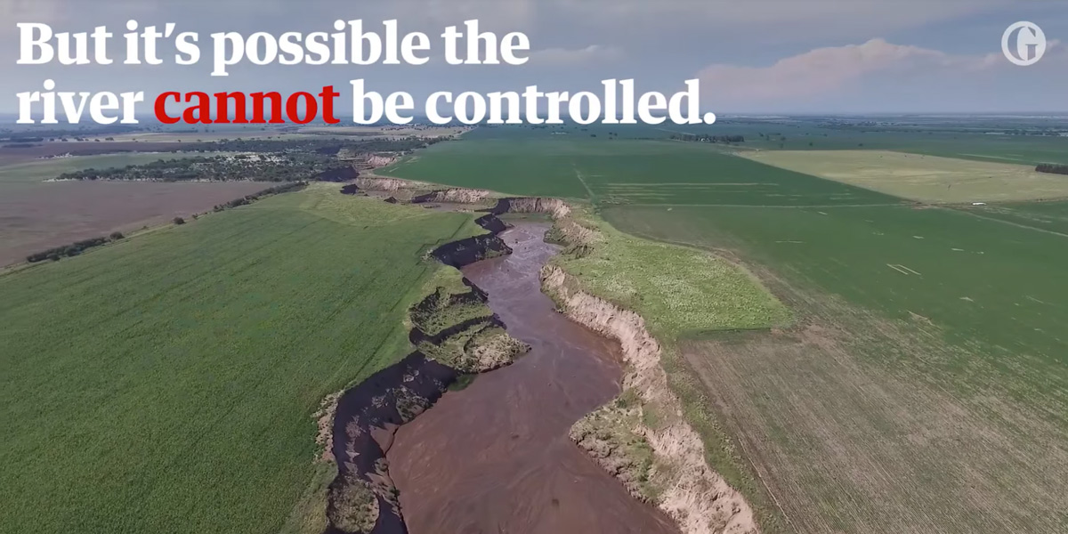 The river cannot be controlled