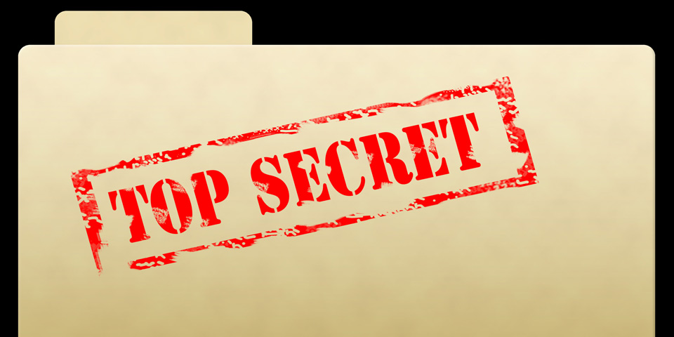 Top Secret Document Folder
