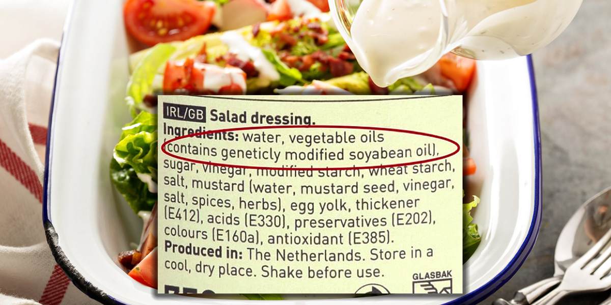 genetically modified soya bean oil salad dressing