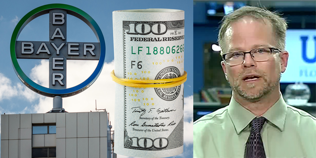 Bayer building, Dollars and Kevin Folta