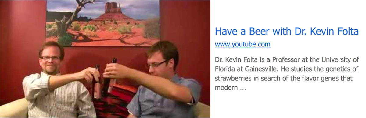 Have a beer with Dr Kevin Folta