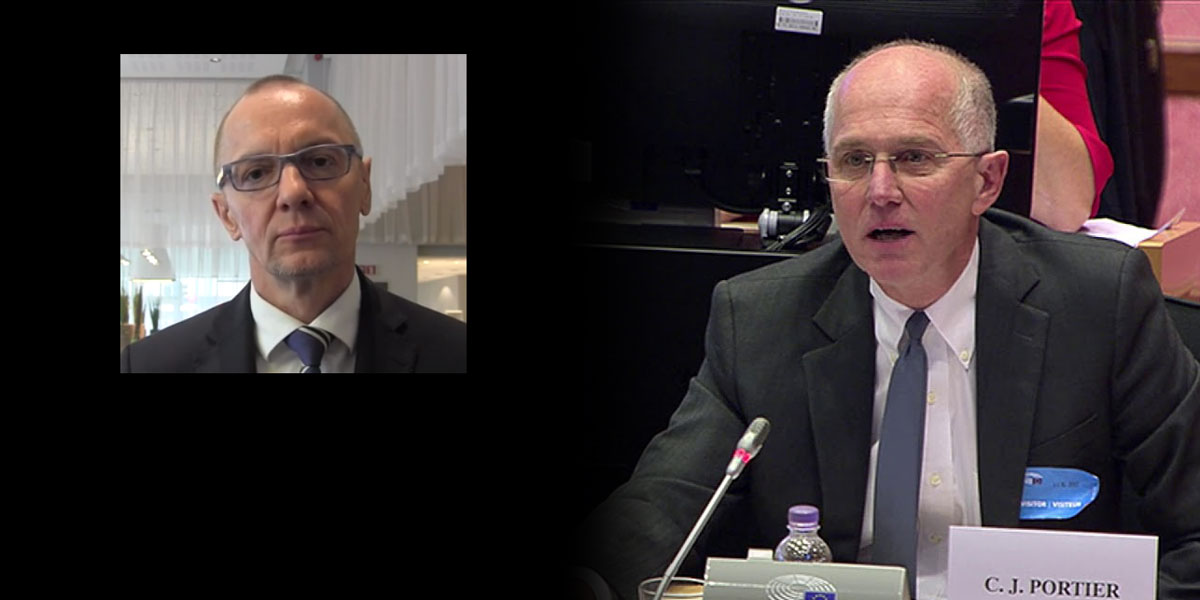 Bernhard Url, executive director European Food Safety Authority and Prof Chris Portier