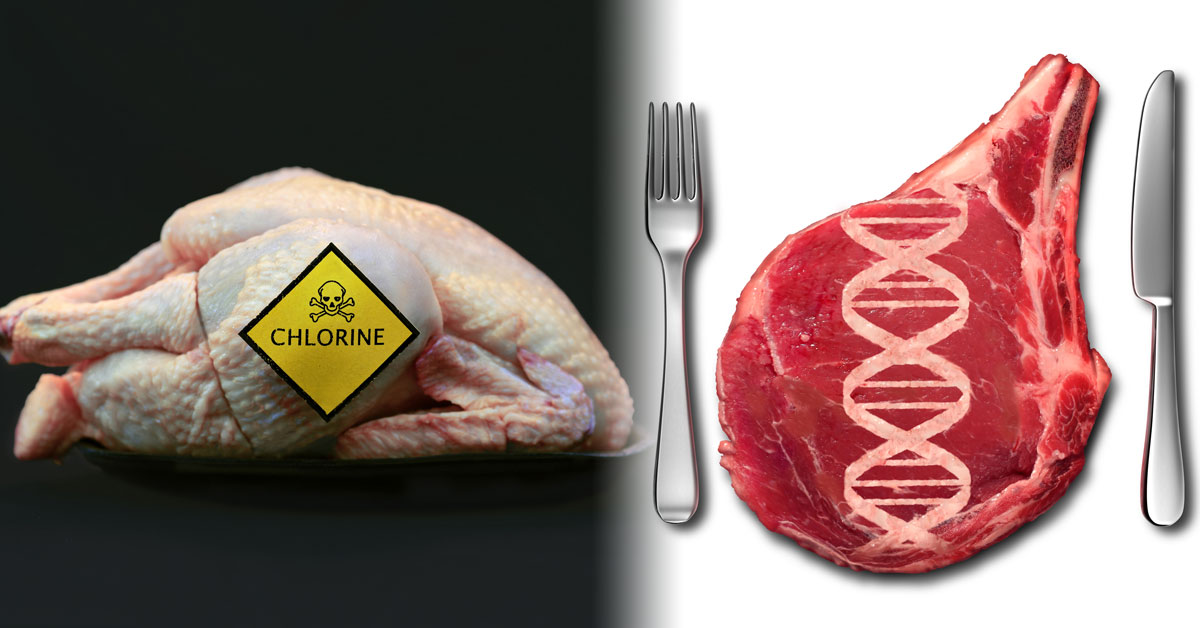 Chlorinated chicken and genetically engineered meat