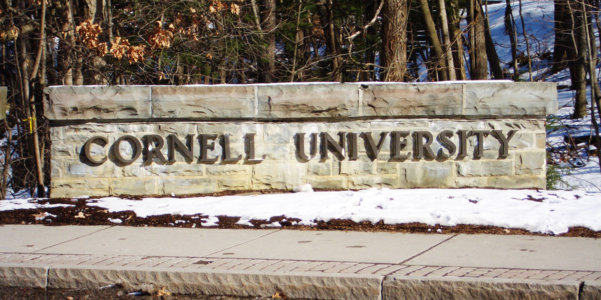 Cornell University, West Campus Sign