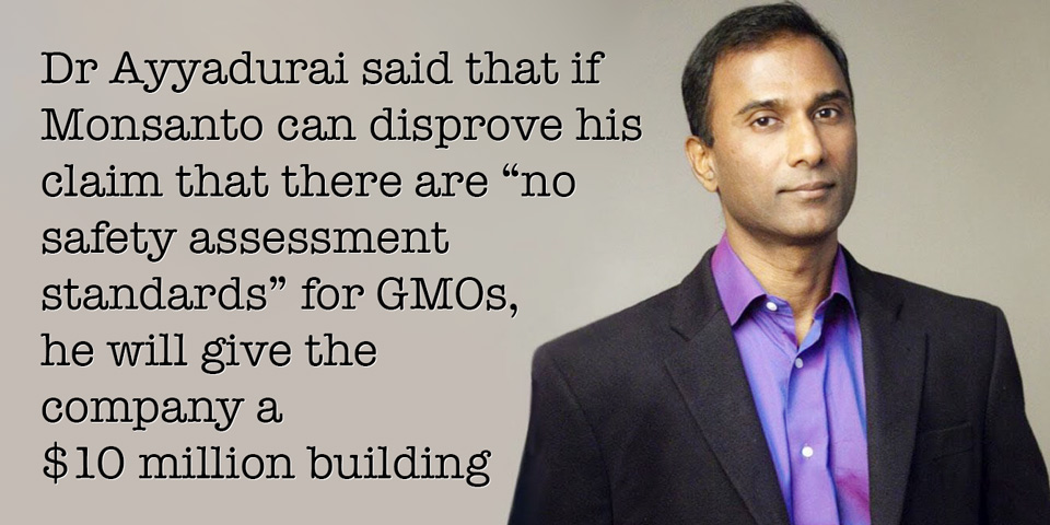 Dr Shiva Ayyadurai challenges Monsanto over GMO safety standards