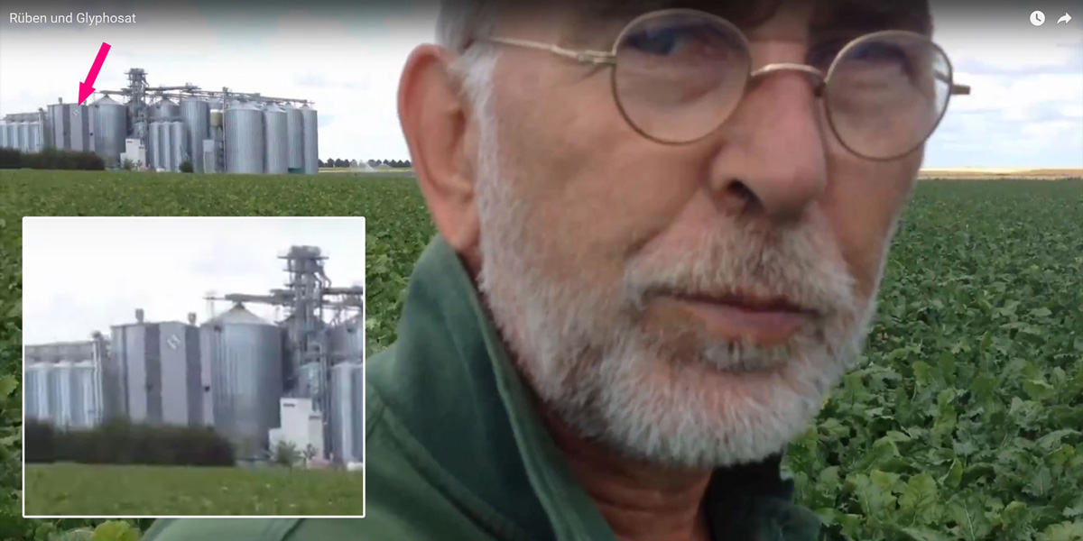 Farmer Willi in field Glyphosate Factory