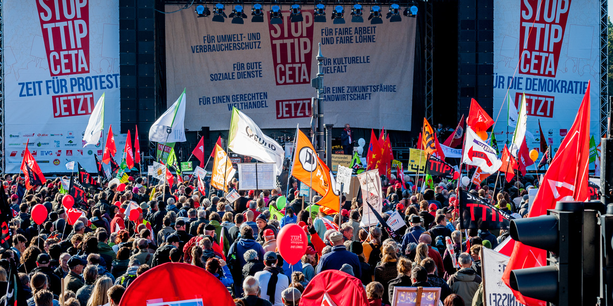 Foodwatch: STOP TTIP CETA 10-10-2015, Belin
