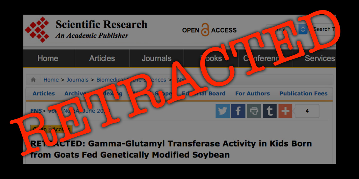 GMO study retracted