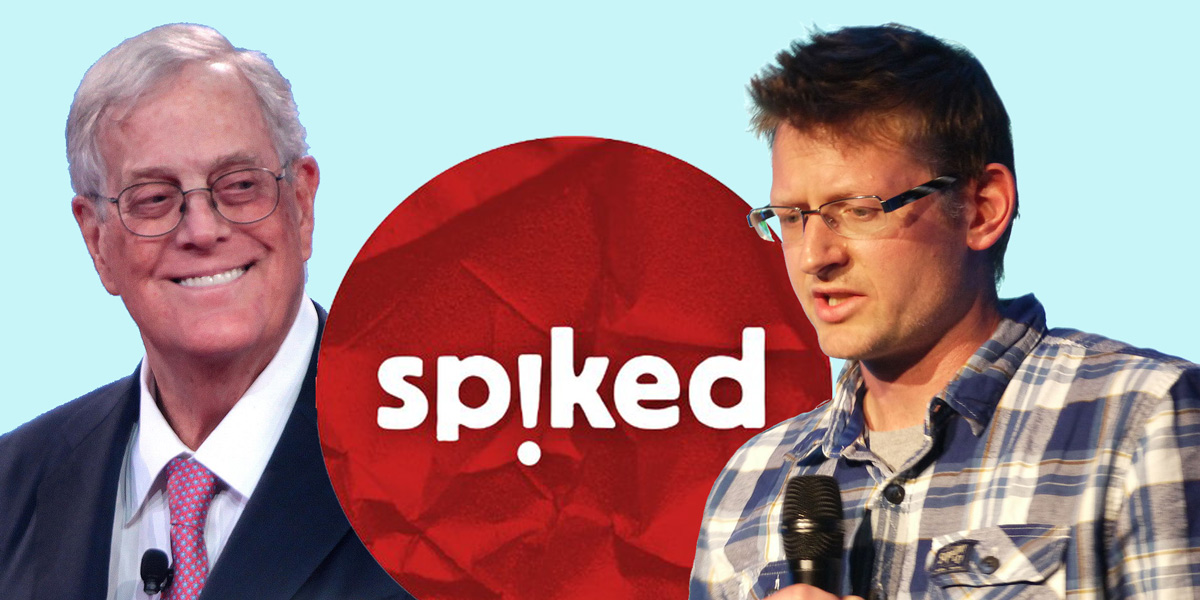 David Koch, Spiked logo and Mark Lynas