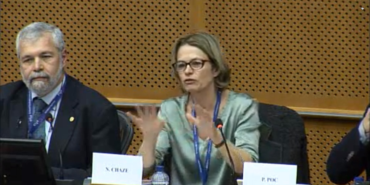 Nathalie Chaze from the European Commission