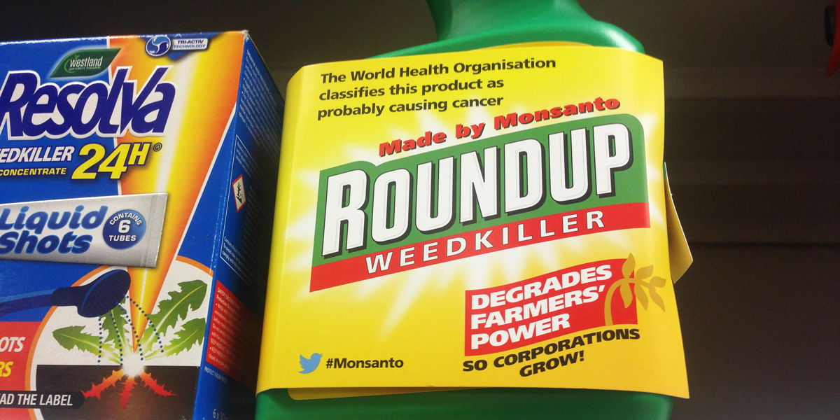 Glyphosate Roundup Re-labeled