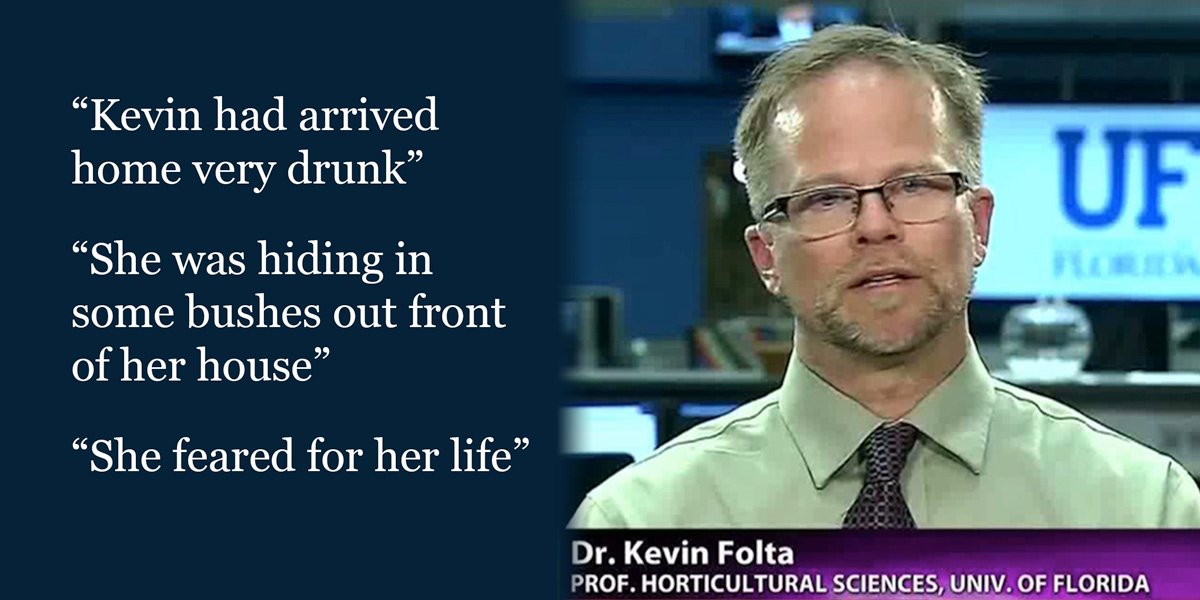 Science communicator Kevin Folta - quotes about abuse