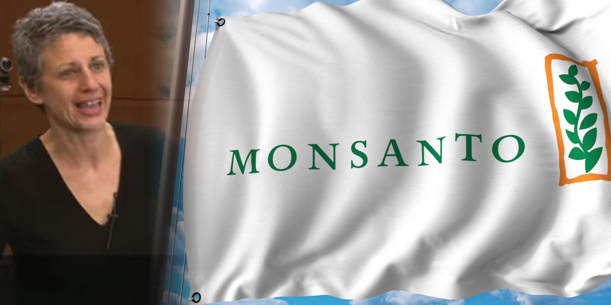 Tamar Haspal and Monsanto Flag