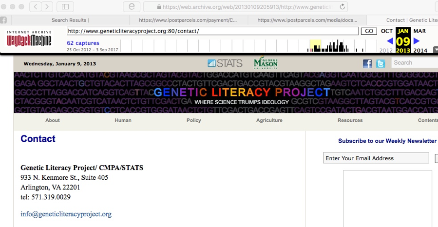 Genetic Literacy Project 2013 Archive