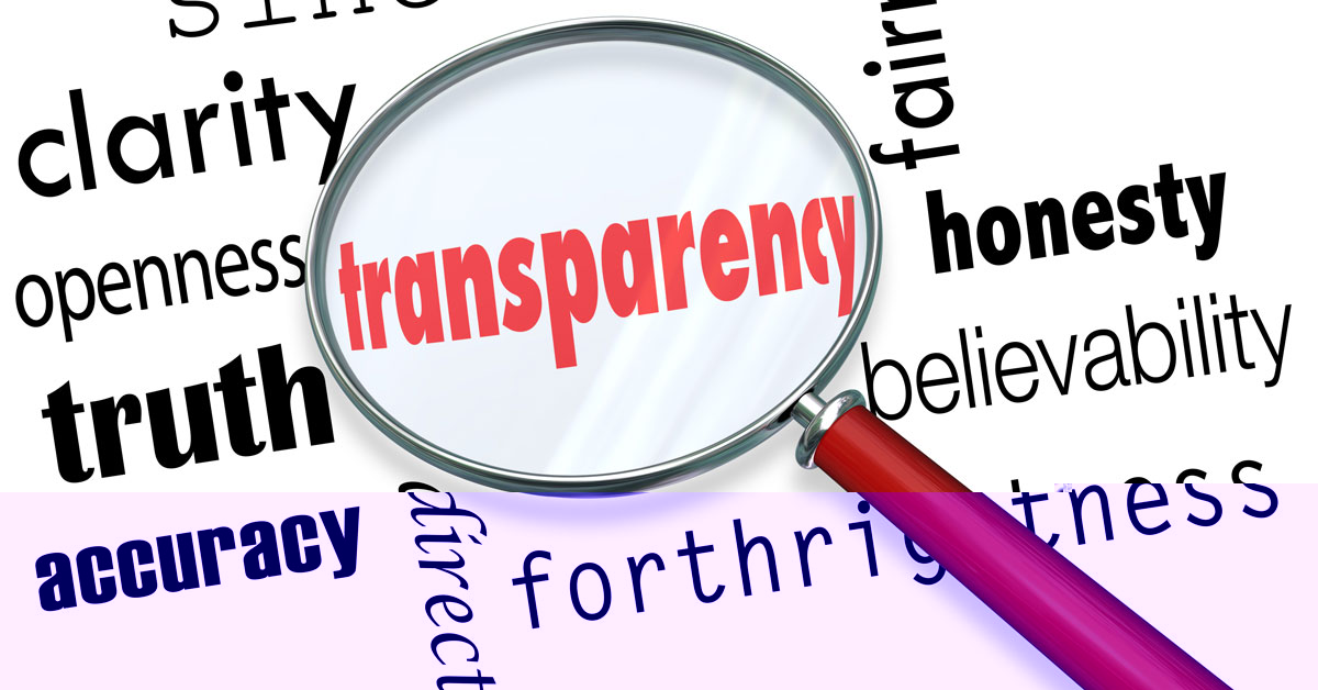 Transparency under a magnifying glass