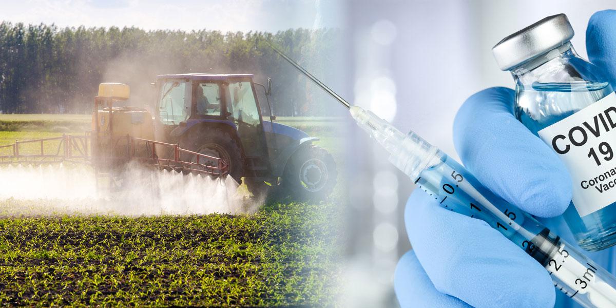 Sprayed glyphosate and Covid vaccine