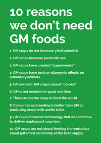 10 reasons we don't need GM foods